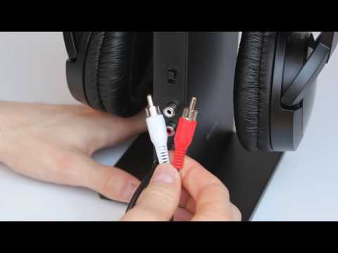 Funkkopfhörer Test: Sony MDR-RF865RK - Anschluss