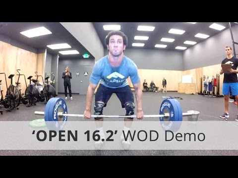 "CrossFit ""OPEN 16.2"" WOD Demo & Workout Tips - 256 Reps Rx"