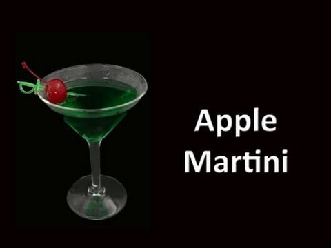 Apple Martini Cocktail Drink Recipe