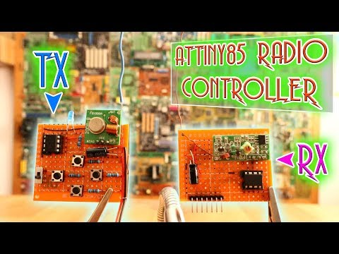 ATtiny85 simplest radio controller - 4 digital channels