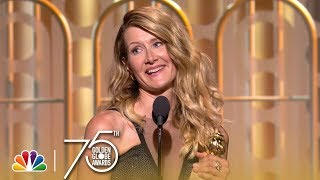 Laura Dern Wins Best Supporting TV Actress at the 2018 Golden Globes