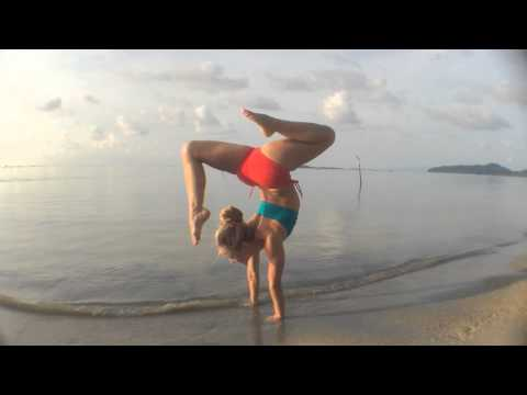 Beach Yoga in Koh Samui: Handstand Splits and Scorpion video