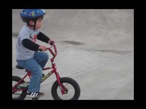 3-year-old Hudson Rogue BMX's Reedville Creek Skate Park, Hillsboro Oregon