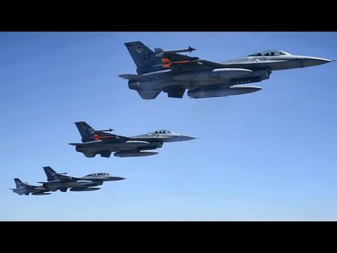 A Squadron of F-16 Fighting Falcons...