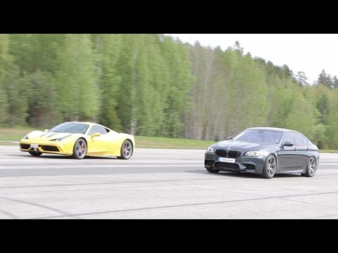 ferrari 458 speciale vs tuned bmw m5 f10