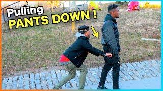 Video (Insane) PULLING STRANGER'S PANTS DOWN !! MP3, 3GP, MP4, WEBM, AVI, FLV April 2018
