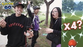 FOUR SHINIES IN ONE DAY?! POKÉMON GO ADVENTURE WEEK NEST SHINY HUNT by Trainer Tips