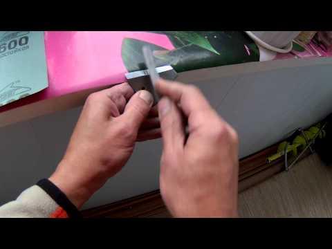как заточить ножи для шведского ледобура видео