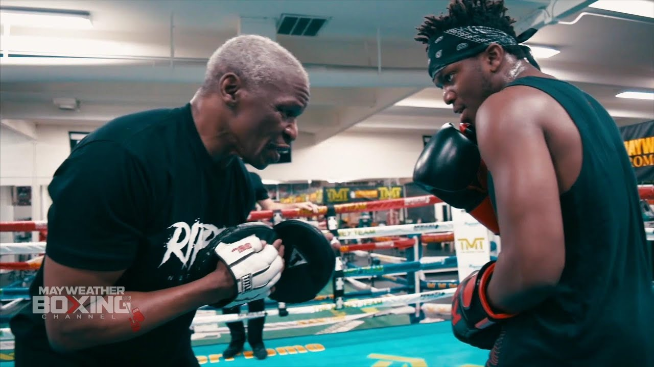 Floyd Mayweather trains KSI to beat down Logan Paul +EXCLUSIVE SPARRING FOOTAGE W/ BADOU JACK