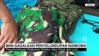 Badan Narkotika Nasional (BNN) kembali menggagalkan penyelundupan narkotika jenis sabu-sabu dari Malaysia, melalui jalur darat dan laut. Total barang bukti yang disita seberat 57,54 Kg.Ikuti berita terbaru di tahun 2017 dengan kemasan internasional berbahasa Indonesia, dan jangan ketinggalan breaking news 2017 dengan berita terakhir dan live report CNN Indonesia di https://www.cnnindonesia.com dan channel CNN Indonesia di Transvision. Follow & Mention Twitter kami :@myTranstweet@cnniddaily@cnnidconnected @cnnidinsight @cnnindonesia Like & Follow Facebook:CNN IndonesiaFollow IG: cnnindonesia