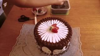 Bolos decorados em 1 minuto - Ganache de chocolate e palito