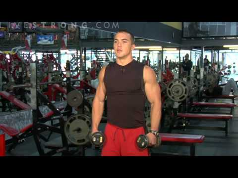 lateral raises - Strengthening the lateral deltoid with lateral raise exercises. Learn tips and techniques for working out the chest, back, shoulders, and arms in this weight...