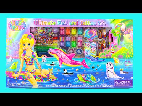 Lisa Frank Ultimate Nail and Tattoo Beauty Set Unboxing!