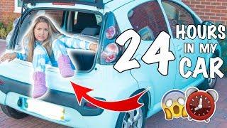 Video I Spent 24 Hours In My TINY Car !! ( Success or FAIL ? ) MP3, 3GP, MP4, WEBM, AVI, FLV Oktober 2018