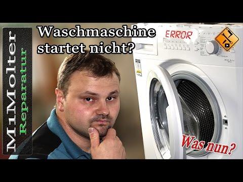 Waschmaschine startet nicht - Was tun? Tipps von M1Molter.