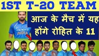 1st T-20 Ind Vs SL: आज के मैच में यह होंगे रोहित के 11 || India Vs Sri Lanka first 20-20 Match