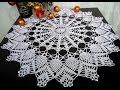 mantel tejido a crochet de navidad - YouTube