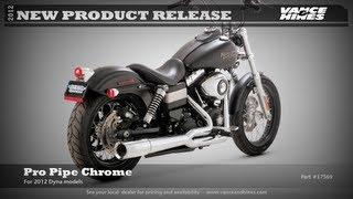 7. Pro Pipe Chrome for 2012 Harley-Davidson Dyna Street Bob FXDB