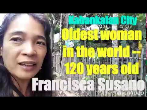 Oldest woman in the world!!! 120-year-old Francisca Susano of Oringao, Kabankalan City, Philippines