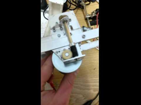 RC Kran Test der Seilrolle