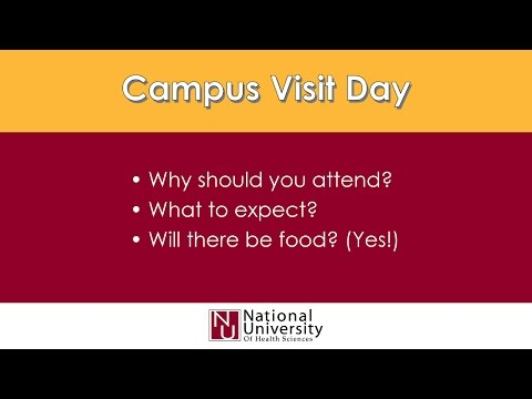 Campus Visit Day at National University of Health Sciences