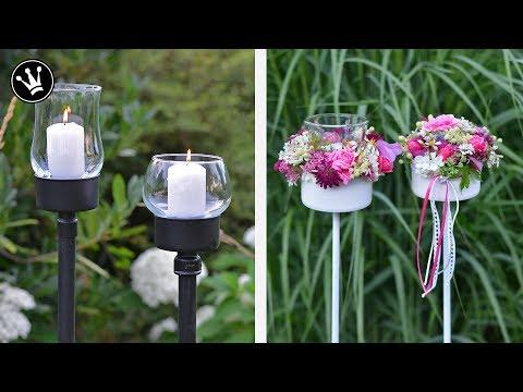 DIY - Gartenstecker aus Thunfischdose   Gartenfackel   Blumendeko   Upcycling