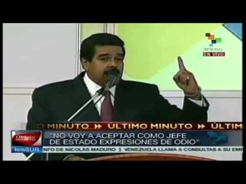 Nicolás Maduro responde al gobierno de España