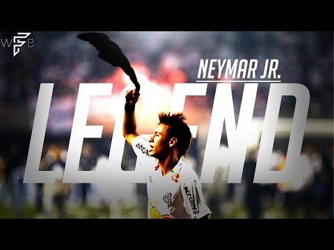 Neymar Jr. - Santos Legend - Amazing Young Skills/Goals!   4K
