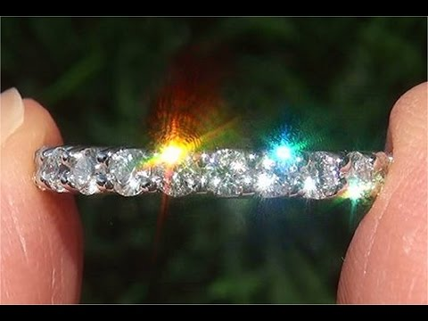 Estate Certified VS2/G Diamond PLATINUM Eternity Anniversary Engagement Band Ring - C870