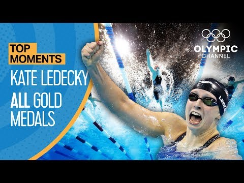 Katie Ledecky  - All Gold Medal Races | top Moments