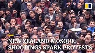 New Zealand mosque shootings spark protests