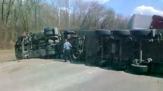 Аварии грузовиков за весь май 2015