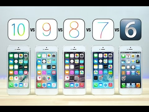 , title : 'iOS 10 vs iOS 9 vs iOS 8 vs iOS 7 vs iOS 6 on iPhone 5 Speed Test!'