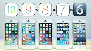 iOS 10 vs iOS 9 vs iOS 8 vs iOS 7 vs iOS 6 on iPhone 5 Speed Test!