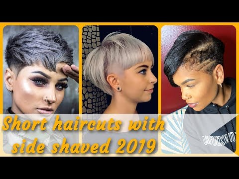 20 new Ideas  for short haircuts with side shaved 2019