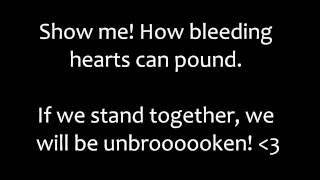 Black Veil Brides music video Unbroken (Lyrics On Screen)