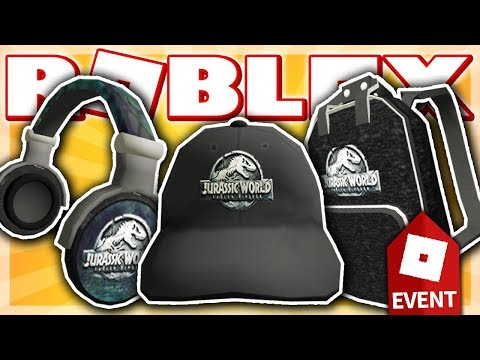 HOW TO GET THE JURASSIC WORLD HEADPHONES, CAP & BACKPACK!! (Roblox CREATOR CHALLENGE EVENT 2018)