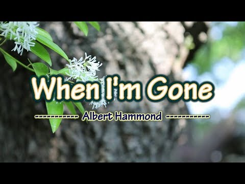 When I'm Gone - Albert Hammond (KARAOKE)