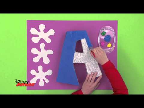 Art Attack - Technique des lettres géantes - Disney Junior - VF