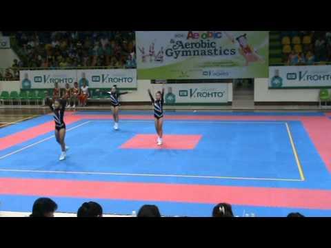 Aerobic Gymnastic.bai du thi tu chon.3 van dong vien-Thanh Vy