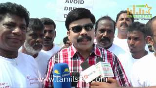 Powerstar Dr Srinivasan at Road Safety Helmet Awareness Rally