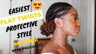 Video Flat Twist Protective Style | NEW African Pride Black Castor Miracle Collection MP3, 3GP, MP4, WEBM, AVI, FLV Agustus 2019