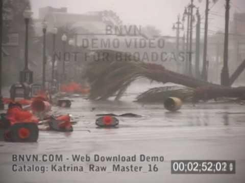 8/29/2005 Hurricane Katrina, New Orleans, LA - Video on Canal Street - Katrina Raw Master 16