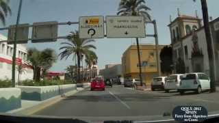 Algeciras Spain  city photos : QQLX 0039 SPAIN Ferry from Algeciras to Ceuta - Street View Car 2012