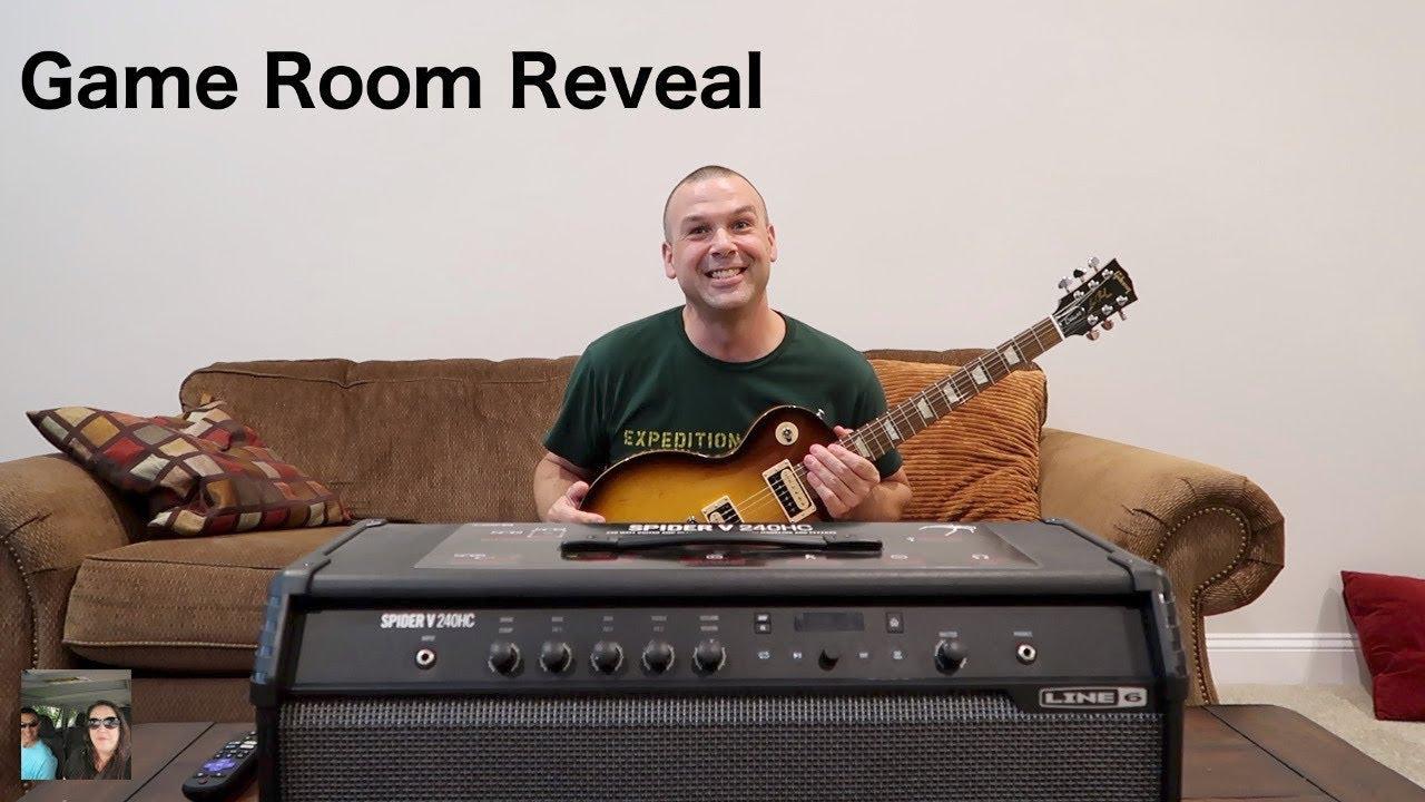 Beauty Room Shelves | Paul Gets A Guitar | Game Room Reveal Vlog | PaulAndShannonsLife