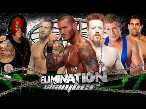WWE Elimination Chamber 2013 (Sheamus Vs Randy Orton Vs Kane Vs Swagger Vs Khali Vs Daniel Bryan) HD