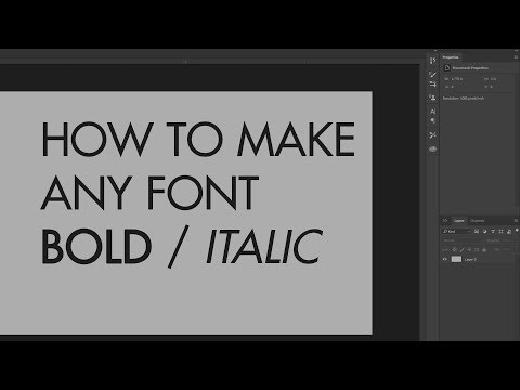 HOW TO MAKE ANY FONT ITALIC OR BOLD IN PHOTOSHOP!!! 2018