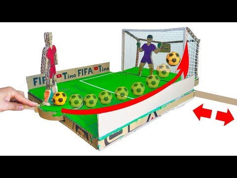 How To Make FIFA Penalty Football Board GAME From Cardboard DIY At HOME World Cup 2018 In Russia