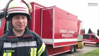 Großbrand in Magdeburger Firma
