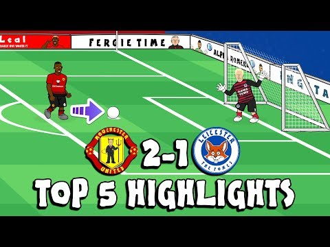🔴MAN UTD Vs LEICESTER🔵 Top 5 Highlights (2-1 2018 Parody Shaw Goal, Pogba Penalty And More!)